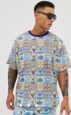 asos design co ord oversized t shirt with all over tie Mens Size XS Bnwt