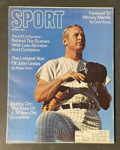 Sport Magazine 1969 April FAREWELL TO MICKEY MANTLE: NEW YORK YANKEES