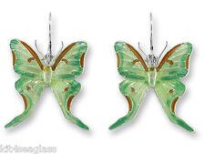 Silver Plated + Gift Wrapped box Zarah Luna Moth Earrings Enamel Sterling
