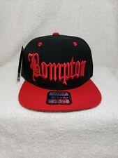 Bompton Hat Cap Snapback Eazy E Black & Red Los Angeles NWA Old English West