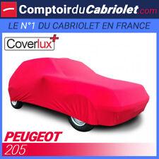 Housse Coverlux+ sur-mesure en Jersey rouge pour Peugeot 205 cabriolet