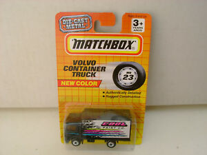 1993 MATCHBOX SUPERFAST MB 23 VOLVO CONTAINER TRUCK COOL PAINT CO. Nuovo Su Card