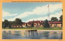 Postcard Thousand Islands Country Club Canada Steamship Thousand Islands Ny