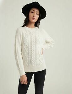Lucky Brand Women's Cable Knit Crew Neck Sweater