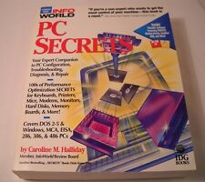 Infoworld PC Secrets by Caroline Halliday Book + 2 Diskettes PC Utilities (CB3)