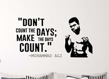 Muhammad Ali Quote Wall Decal Cassius Clay Vinyl Stickers Sport Home Interior
