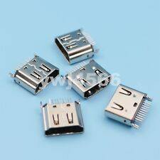 100Pcs HDMI Type A Female DIP Two Row 19Pin 180 Degree PCB Solder Connector