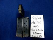 1 ASTRA MODEL 400 MAG MAGAZINE 9MM .38ACP 8 ROUND (INV#75)