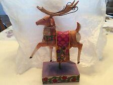 Jim Shore 2004 Dash Away Reindeer Red Blanket Figurine 118112