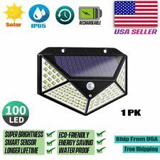 New listing 100 Led Outdoor Motion Sensor Wall Light Solar Power Waterproof Garden Yard Lamp