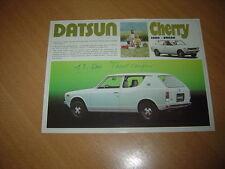 FEUILLET Datsun Cherry 1000 Break de 1974