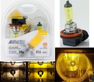 Nokya 2500K Yellow H16 64219 Nok7622 19W Two Bulbs Fog Light Replacement Lamp OE