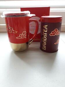 Davidstea NIB LUNAR NEW YEAR PIG  Nordic Mug and TIN Davids Tea