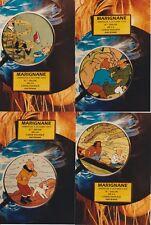 LARDIE. Tintin.Série complète de 4 CP 8° Salon de la CPA à Marignane 1994 TL 100