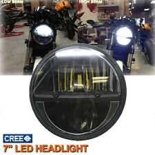 """Motorcycle 7"""" CREE LED High/Low Light Projector Headlight for Harley"""