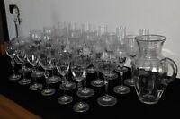 Inn Crystal - Serv. bicchieri in cristallo completo x 6 persone - Pezzi 32