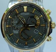 CITIZEN ECO-DRIVE NEW MENS PERPETUAL CALENDAR 2 TONE SAPPHIRE WATCH BL8144-89H