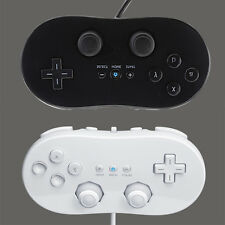 2 x Classic Controller Remote Pro Gamepad Shock For Nintendo Wii White & Black