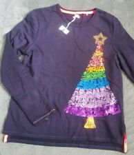 🎄Next Christmas Tree Top 16Y - 168cm Old Girl/Boy Navy Ugly Jumper Sweatshirt