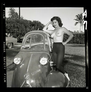DEBBIE NORRIS 1950s Nude Model Bunny Yeager Archive Orig 2 1/4 Camera Negative