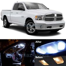 17Pcs Pure White Interior LED SMD Lights Package Kit for 2017 Dodge RAM 1500  MP