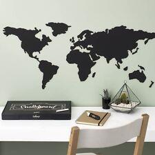 Chalkboard World Map Luckies Vinyl Kitchen Memo Blackboard Wall Sticker Atlas