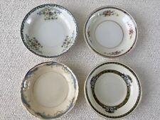 Set 4 Vintage Mismatched China Berry Fruit Bowls ~ Blue & White