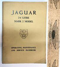 Betriebsanleitung Jaguar Mk2, 2.4 Lt, englisch, sehr schön mit Maintenance Chart