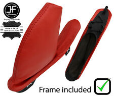 RED REAL LEATHER HANDBRAKE GAITER WITH PLASTIC FRAME FOR MG ZT ZT-T 1999-2005
