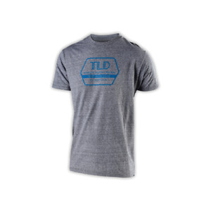 Troy Lee Designs T-Shirt TLD Motocross MX BMX MTB DH Gear Factory Vintage Gray