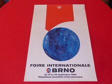 [Coll.R-JEAN MOULIN ART XXe] FOIRE INTERNATIONALE BRNO (CZ) AFFICHE EO 1965 Arts