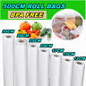 7 Different Size Transparent Vacuum Sealer Bags Rolls Food Saver Seal Storage