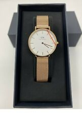 NEW Daniel Wellington Petite Melrose Watch White Dial Rose Gold 28mm