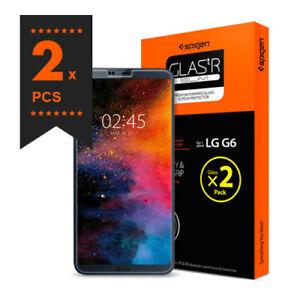 LG G6 Tempered Glass Screen Protector Protection Film Spigen Korea GLAS.tR