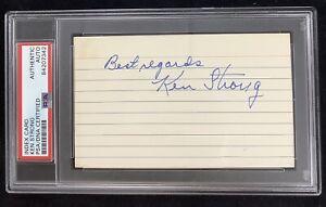 Ken Strong Signed Index Card Autograph PSA/DNA Giants Football HOF Slabbed