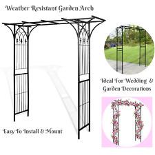 Metal 2M High Outdoor Garden Arch Way Feature Climbing Rose Stand Wedding Decor