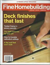 Fine Homebuilding Magazine Deck Finishes Timber Framer Joinery Concrete Ceilings