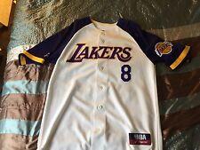 100% Authentic Kobe Bryant Mitchell & Ness Lakers Baseball Jersey Size Medium