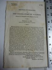 Government Report 1833 Illinois Adverse To The Reduction Of Duty On Lead. #3508
