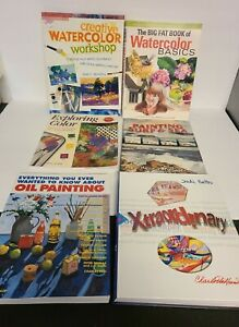 Lot of 6 How To Books On Painting Oil And Watercolors Excellent Complete Guides