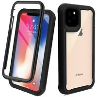 For iPhone 11 Pro Max Hybrid Cyrstal Clear Case Shockproof Bumper Armor Cover