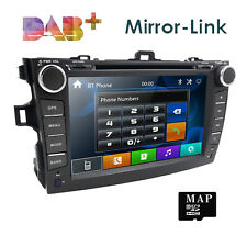 8.0 inch Car DVD PLAYER GPS head unit BT For Toyota corolla Auris 2007 2008 2011