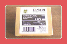 Genuine Epson Pro 3800 3880 Matte Black Ink  T5808 T580800 Exp 02-2012