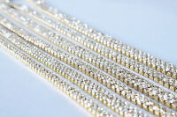 1 Metre Diamante/Rhinestone Crystal Chain Gold A++ Quality Wedding Cake Clothes