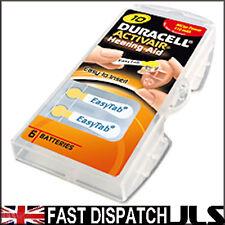 6 Duracell 10 DA10 n6 A10 YELLOW Hearing Aid Batteries