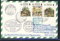 58295) LH FF München - Lugano Schweiz 30.3.92, Karte ab Jersey