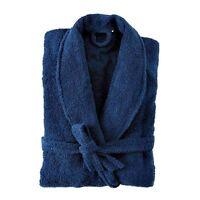 Terry Towelling Bathrobe Bath Robe NAVY BLUE Unisex 500 GSM 100% Cotton