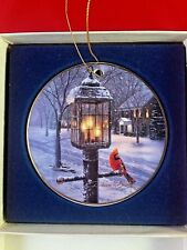 "Darrell Bush Signed Christmas Ornament ""Warmth of Winter"" 1994 ~ Hadley House"