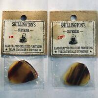 6x NOS Vintage Celluloid Picks 1920's-1940's Tortoise Shell Guitar Mandolin