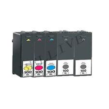 5 CARTUCCE 100XL PER STAMPANTE LEXMARK Pro205 S605 S505 S405 S305 S815 Genesis